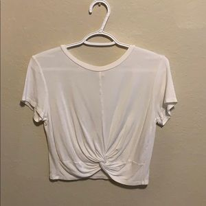 White T-shirt Crop top
